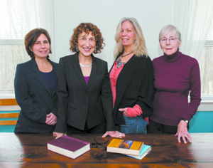 (L-R) Authors Lori Toppel, Susan Hodara, Vicki Addesso, & Joan Potter. Photo by Margaret Fox