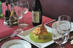 The Seafood Grille: Broiled Halibut with Nantoix (Lobster) Sauce