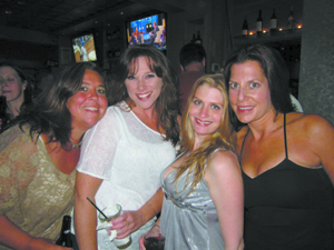 """Friends keep me sane and grounded,"" says Miriam. To the left of Miriam (l-r): Buddies Amy Mittelstadt, Jennifer Cahill and Genine Coccoli DiFalco."