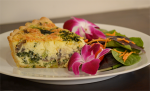 Culinary Creations: Spinach Mushroom Quiche