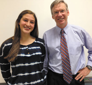 Julia Fortier and Mr. Houser