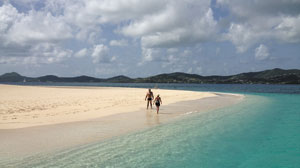 The pristine beaches at Buccaneer Island.