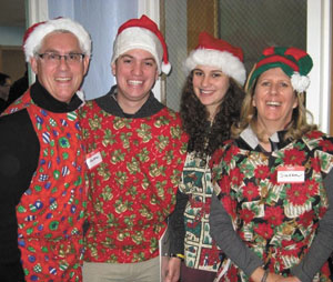 The Blumenfelds of Chappaqua have made volunteering at this event an annual family tradition.