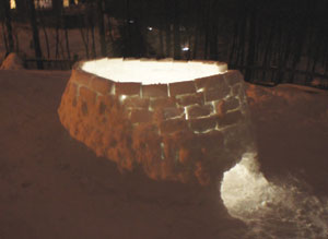 Snow Igloo: By the Hessert boys of Chappaqua.