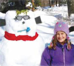 """Snowman"" by second grader Ava Fleisher"