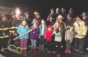 Girl Scout Troop 1029 visits the Millwood Fire Department. Elizabeth Kasulka Photo