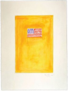 Flag On Orange, 1998 Etching and aquatint 26 ¾ x 19 ¾ inches Edition of 27 Low Road Studio 1 Art © Jasper Johns and LRS Licensed by VAGA, New York, NY Published by Low Road Studio