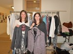 Bet Torah Nursery School's Community Outreach Co-Chairs Beth Nevins and Jill Heller with clothing being donated to Dress For Success®.