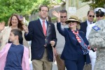 Hillary Clinton with Assemblyman David Buchwald at the Memorial Parade.  Photo by Carolyn Simpson. www.doublevisionphotographers.com