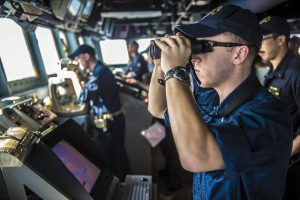 Lt.j.g. Anthony Rush of Putnam Valley  is a strike officer aboard the destroyer operating out of Yokosuka, which is located approximately 35 miles south of Tokyo and accommodates the United States' furthest forward-deployed naval forces.