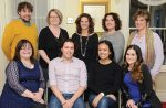 The new Chappaqua-Millwood Chamber of Commerce members. Back row, left to right: Jeff Rocco, Dawn Greenberg (Executive Director), Dawn Dankner-Rosen (President), Carolyn Vento, Bernadette Bloom Front row, left to right: Dominique Simons, Collin Slattery, Lauren Levin, Nicole Hair. Photo by Carolyn Simpson, Doublevision Photographers