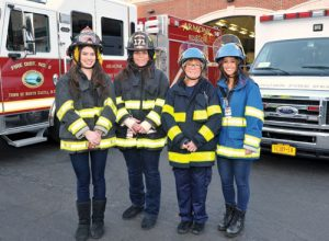 Shown, L-R: Lexi Draper (Junior Firefighter), Luci Labriola-Cuffe (Firefighter/EMS), Sue Macellaro (EMS), Elissa Weinhoff (EMS Training)