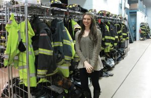 Lexi Draper, ready and waiting at the Armonk Fire House