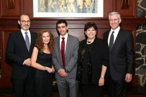 (From left) Honorees Richard and Heidi Rieger of Bedford, Yoav Cohen of White Plains, and Shari and Joel Beckman of Scarsdale