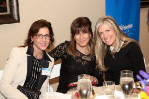 (From left) Tina Price, Caryl Orlando, and Nina Ross, all of Scarsdale