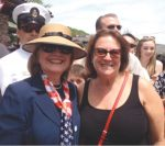 Memorial Day 2014: Former Secretary of State and now candidate for President of the United States Hillary Clinton with Chappaqua resident Ellen Byck