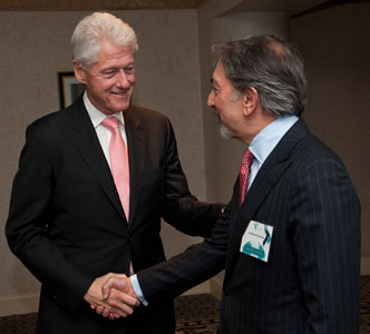 President and neighbor Bill Clinton with Andrew Brozman