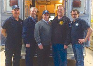 (L-R): Sean Higgins, Peter Marcon, Jerry Curran, Joe Gentilesco, Bill Bramswig