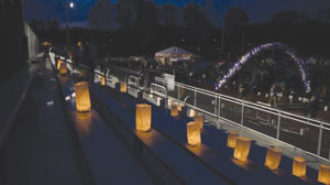 Luminaria from the 2014 Relay. Relay for Life Committee Photo