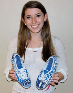 Carly Stern with her own College Kicks kicks