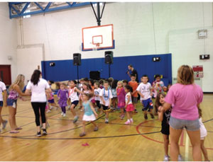 Dancing and fun in the Coman Hill gym