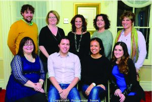 The new Chappaqua-Millwood Chamber of Commerce members. Back row, left to right: Jeff Rocco, Dawn Greenberg (Executive Director), Dawn Dankner-Rosen (President), Carolyn Vento, Bernadette Bloom Front row, left to right: Dominique Simons, Collin Slattery, Lauren Levin, Nicole Hair.