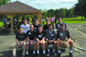 New Castle teens at the Goldsmith Center for Adolescent Treatment in Hawthorne where a a sports pavilion, picnic tables, and benches were dedicated, built with $25,000 the boys raised. Photo Courtesy of UJA-Federation of New York