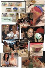 Bowl Painting Party Photos provided courtesy of Mindy Kombert of the NWAG