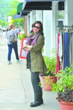 Nicole's Look: From Squires-Nally & Millie long sleeve, Fillmore rain coat, Christopher Blue stretch cords, and Frye motorcycle boots. Chrisu scarf and all jewelry from House of 29. Tom Ford sunglasses from Eye Gallery. Hair by Salon 228 and makeup by Victoria Hair from Cathy's Hair Room