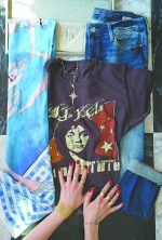 Cheryl's House of 29 Look (left to right): Chrisu scarf, Madeworn Rock vintage tee, all jewelry by Kismet, Mavi jeans