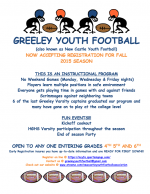 Greeley Youth Football Accepting Registration