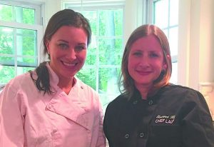 Chef Lisa Beels (on left) and Laura Anderson