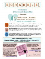 Day of SCRABBLE® to benefit the Community Center of Northern Westchester