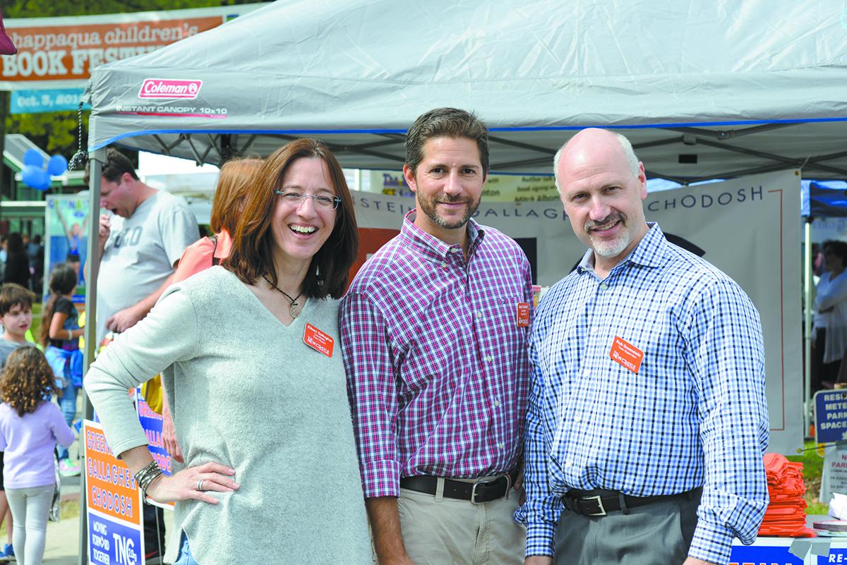 Team New Castle candidates (L-R): Eileen Gallagher, Seth Chodosh and Robert Greenstein