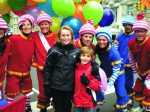 Lisa McGowan's two children, Lexie and Spencer, enjoying the Macy's parade several years ago