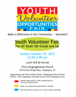 Youth Volunteer Opportunities Fair October 25th!