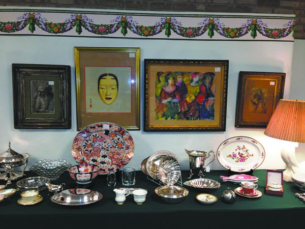 A previous Gold in Your Attic booth from a past Chappaqua Expo