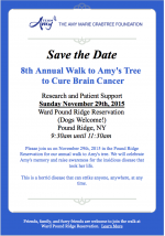 Team Amy Walk to Cure Brain Cancer Save the Date!