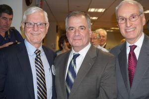 on left: Dr. Lawrence Smith, Physician in Chief and Dean of the Hofstra Northwell School of Medicine. On right: Dr. Scott Hayworth, President and CEO of Mount Kisco Medical Group