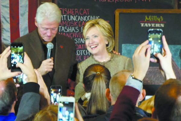 The Clintons campaigning this winter in Hampton, New Hampshire.