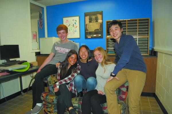 Byram Hills seniors (left to right) Dominick Rowan, Lyndsay Sie- gle, Sarah Tang, Sela Berenblum and Kevin Chang, were named Intel Search seminalists.