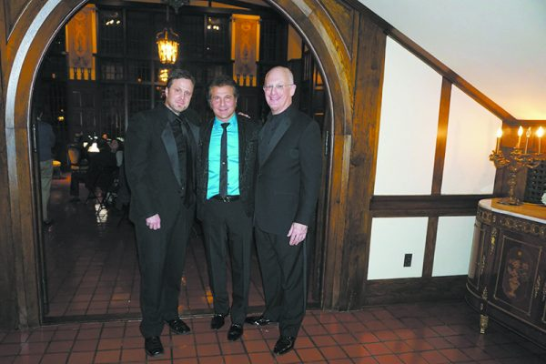 Chappaqua Orchestra's David Restivo (left) with Frank Shiner and Shapiro.