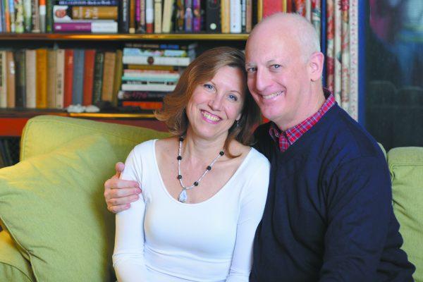 """With his """"best critic,"""" Marjorie Perlin"""