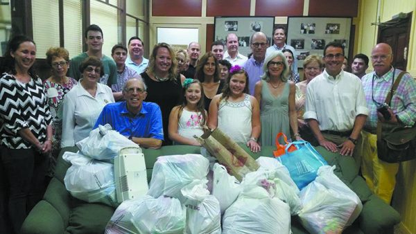 TBE Congregants delivered supplies to a Temple Beth Shalom in Havana