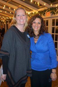 L-R: Jennifer Bancroft, Chamber Manager with Dawn Dankner Rosen, Chamber President.
