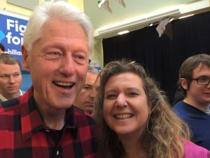 A moment with President Clinton in Tilton, NH