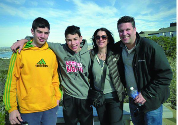 Jodi Baretz and her sometimes happy family.