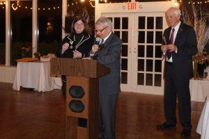 Ann Herrero with Rotarian Peter Davidson