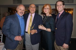 (L-R): Robert Greenstein, Majid Eshghi, Rosemary Eshghi, and David Buchwald.