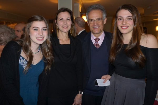 Sophie Odrich (right) with her parents Karen and Steven Sidel and friend Shail Highbloom who helped along with another friend, Gianina, with 'Kittle Kare' efforts.